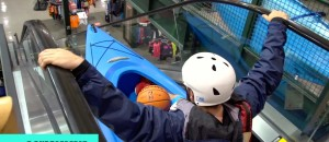 Kayaking Down an Escalator