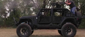 A 50 Cal Mounted On A Jeep!