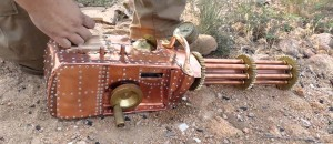Functional .22 Cal Steampunk Gatling Gun!