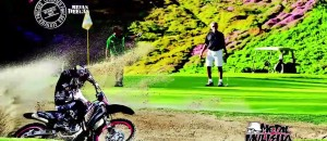 How To Ruin a Game of Golf - Brilliant Motocross Video!