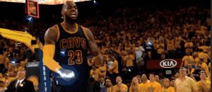 Glorious! Lebron James and this EPIC clip. Don't hate... Golden State ;)