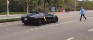 Angry Dad Throws Rock At $400K Lamborghini Aventador