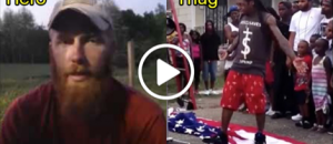 Marine Catches Thug Stomping On American Flag, So He Does This...