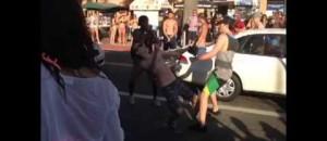[WATCH[ Guy Knocks Out 3 With One Hit Each!
