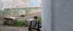 Rebel Gets His Hat Shot Off By A Sniper In Ukraine