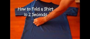 Hold to Fold a Shirt FAST: [VIDEO]